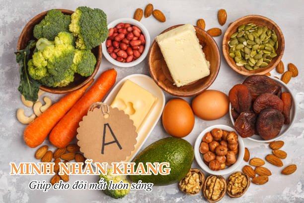 Thực phẩm giàu vitamin A tốt cho người bệnh mổ mắt đục thủy tinh thể